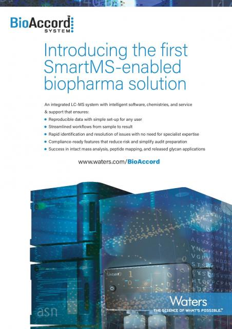 Introducing the first SmartMS-enabled biopharma solution